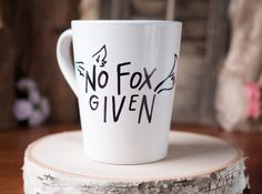 "A mug that knows how many ""fox"" you give. 