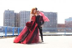 Gothic red and black wedding shoot by VeroLuce Photography!