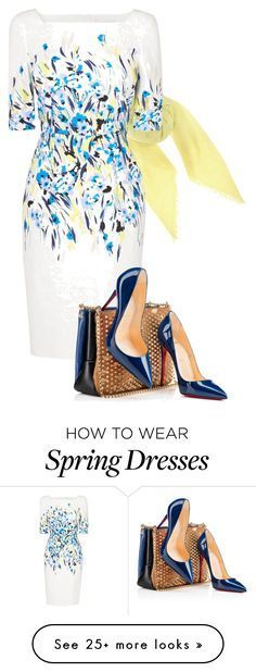 Spring is in the Air by meladesigns on Polyvore featuring Jardin des Orangers, L.K.Bennett, Christian Louboutin and meladesigns