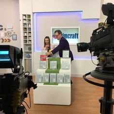 On the Create & Craft TV set with Martyn Parker