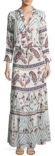 Beautiful paisley maxi dress.