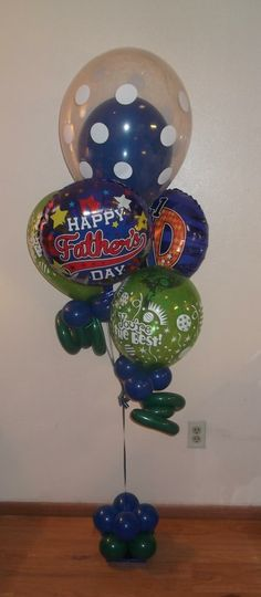 Happy Father's Day balloon bouquet by balloonsandmoregifts.com on budget bouquet page.