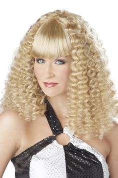 Women/'s Blonde Sweetheart Wig Curly 40/'s 50/'s Classy Hen Do Pin Up Model Glamour