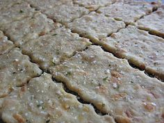 Homemade Crackers:  -Wheat-butter club crackers  -Cheese Crackers  -Wheat Thins  -Graham Crackers