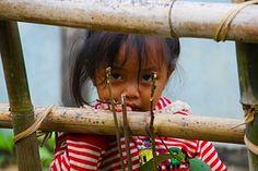 Laos, Petite Fille, Regarder
