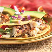 Grilled Fish Tacos with avocado, cabbage and pico de gallo is light and great for summer