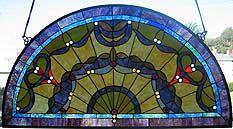 Colorful Half Moon Stained Glass