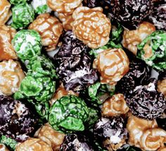 """Popcorn for the military or """"out door"""" sports person who has everything. Candy Coated popcorn mixed with our famous Caramel corn for a camouflage snack that will blend into your outdoor surroundings a"""