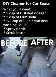DIY Cleaner For Car Seats