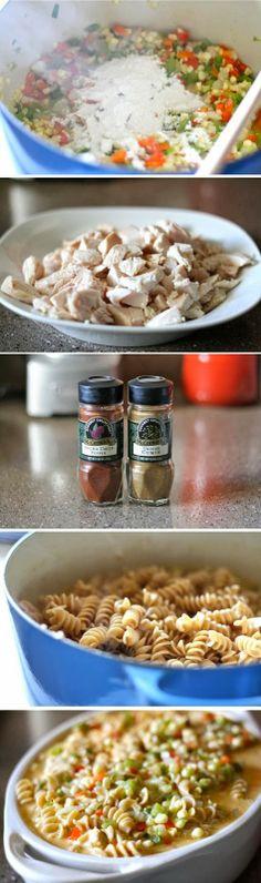 Exclusive Foods: Cheesy Chicken Southwest Pasta Casserole