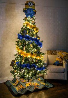 Árbol de Navidad de los Minions! Simplemente espectacular decoración navideña.