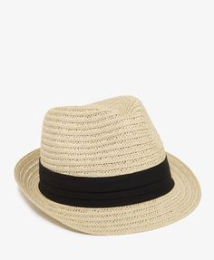 Pleated Band Straw Fedora | FOREVER21 - 2022464861