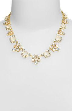 This pearl, crystal and gold necklace is fit for a princess | Kate Spade