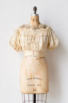 antique 1890s bodice top / Marchante Ivory Top