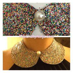Glitter Peter Pan Collar DIY