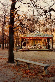 Carousel in autumn park - Jardin du Luxembourg, Paris Tuileries Paris, Jardin Des Tuileries, The Places Youll Go, Places To Go, The Ventures, Autumn Park, Paris In Autumn, Belle Villa, I Love Paris