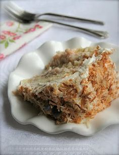 Triple Layer Coconut Custard Cake