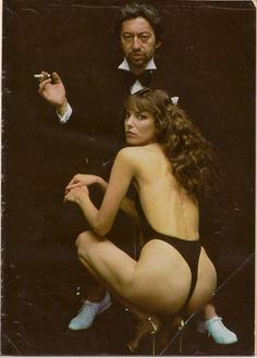 Jane Birkin e Serge Gainsbourg in una fotografia di Helmut Newton , nel 1978 Charlotte Gainsbourg, Serge Gainsbourg, Gainsbourg Birkin, Jane Birkin, Lou Doillon, West Hollywood, Marianne Faithfull, Helmut Newton, English Actresses