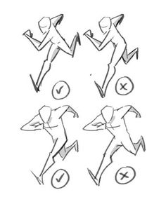 Cartoon Drawing Tips Running done right and done wrong Animation Reference, Sketch Book, Art Reference Poses, Drawings, Art Poses, Art Drawings Sketches, Art Reference Photos, Drawing Tips, Art Tutorials