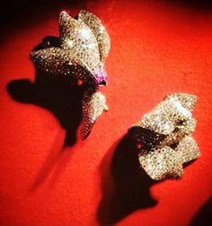 7 - Cyclamen brooches, 2002 Diamonds, rubies, silver, gold
