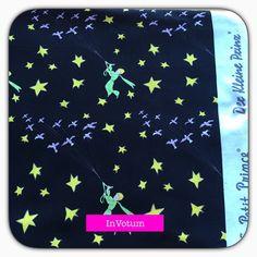 Baumwoll Jersey Stoff Der kleine Prinz 50 cm schwarz von InVotum