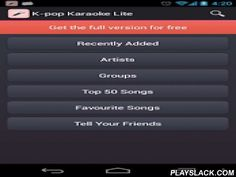 K-pop Lyrics (KPOP)  Android App - playslack.com ,  K-pop Lyrics will help you to sing your favourite songs while you have fun with your friends at the local karaoke bar.In this application you can find great number of K-pop lyrics. This application does not contain audio or video. It only contains the lyrics, the title and the name of the artist.You can switch between Korean, Japenese, Chinese, Romanization and English.You can search by artist name, song title or excerpt from the lyrics…