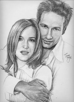 Scully and Mulder from X-Files by *TerryXart on deviantART
