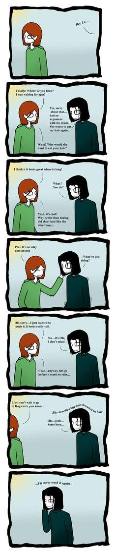 ! Lilly and Snape. this explains so much Xd