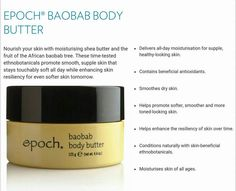 Skin So Soft, Smooth Skin, Body Butter, Shea Butter, Baobab Tree, Nail Polish, Fruit, Products, Whipped Body Butter