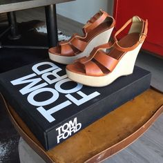 Wedges Leather upper. 1 inch platform 4.25 inch heel, so total height is about 4.25 inches J. Crew Shoes Wedges