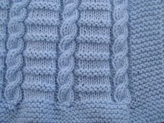 Easy to knit Cable baby blanket pattern in DK in Crafts, Crocheting & Knitting, Patterns Baby Shawl, Knitted Baby Cardigan, Knitted Baby Blankets, Baby Boy Knitting Patterns, Knitting Stitches, Baby Patterns, Knit Patterns, Free Knitting, Baby Sweaters