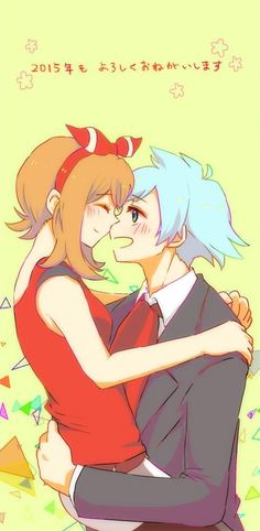 pokemon, may, and steven stone image