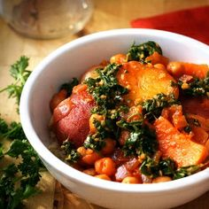 Winter Vegetable Tagine with Zesty Moroccan Charmoula Sauce