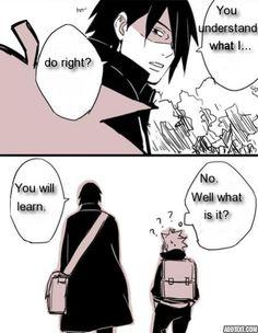sasuke sensei and boruto Naruto Cute, Naruto And Sasuke, Naruto Shippuden, Boruto, Naruhina, Memes, Movie Posters, Anime, Manga