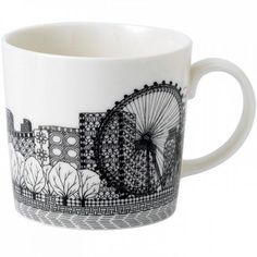 London Eye Mug (£48) ❤ liked on Polyvore featuring home, kitchen & dining, drinkware, paris mug, london mug, inspirational mugs and charlene mullen
