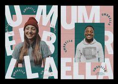 Umbrella London on Behance Typo Design, Graphic Design Branding, Typography, Behance, Adobe Indesign, London, Creative, Poster, Letterpress
