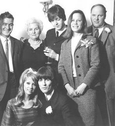 A very drunk Paul McCartney at George Harrison and Patti Boyd's wedding in 1966.