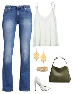 """""""Untitled #1217"""" by netteskytte on Polyvore featuring ESPRIT, Calypso St. Barth, Michael Antonio, Charm & Chain, Torrid and Coach"""