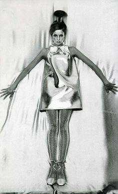 1960s futuristic fashion.