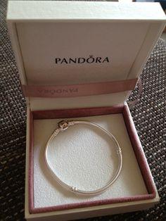 Pandora  Pandora Armband - 925er Silber - poliert -mit Kugelverschluss - 19cm Love it!!
