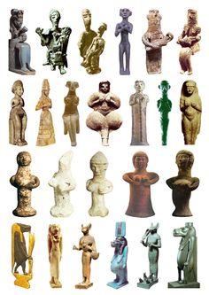 Late Bronze Age Goddess sculptures 1
