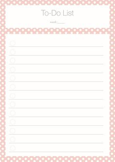 To Do List Polka Dot pink Freebie