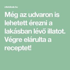 Még az udvaron is lehetett érezni a lakásban lévő illatot. Végre elárulta a receptet! Cleaning, Math, Home Decor, Awesome, House, Creative, Decoration Home, Room Decor, Home