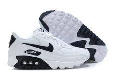 pretty nice db9ba 877df Nike Air Max 90 Hombre Zapatos Blanco Negro Baratas
