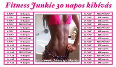 30 napos kihívás edzésterv - Google keresés 30 Day Challenge, Training Plan, Better Life, Workout Programs, Gymnastics, Fitness Inspiration, Health Fitness, Challenges, How To Plan