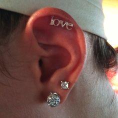 LOVE cartilage piercing. ♥