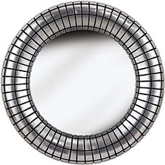 @Overstock.com - Place this eye-catching wall mirror by the door in your home so you can check your appearance before you leave. The mirror has beveled edges and grooved accents to give any room a sophisticated and textured look, and the silver will match any decor.http://www.overstock.com/Home-Garden/Coeus-Silver-Plate-Wall-Mirror/6541903/product.html?CID=214117 $111.59