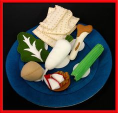 Wool Felt Play Food  Seder Plate by EvaLauryn on Etsy