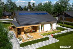 Projekt domu Iwo II G2 ENERGO PLUS - widok z góry Villa, Patio, Architecture, Outdoor Decor, House, Model, Home Decor, Tiny Houses, Arquitetura