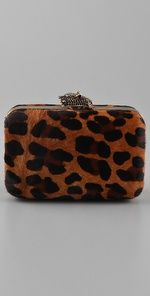 House of Harlow leopard clutch